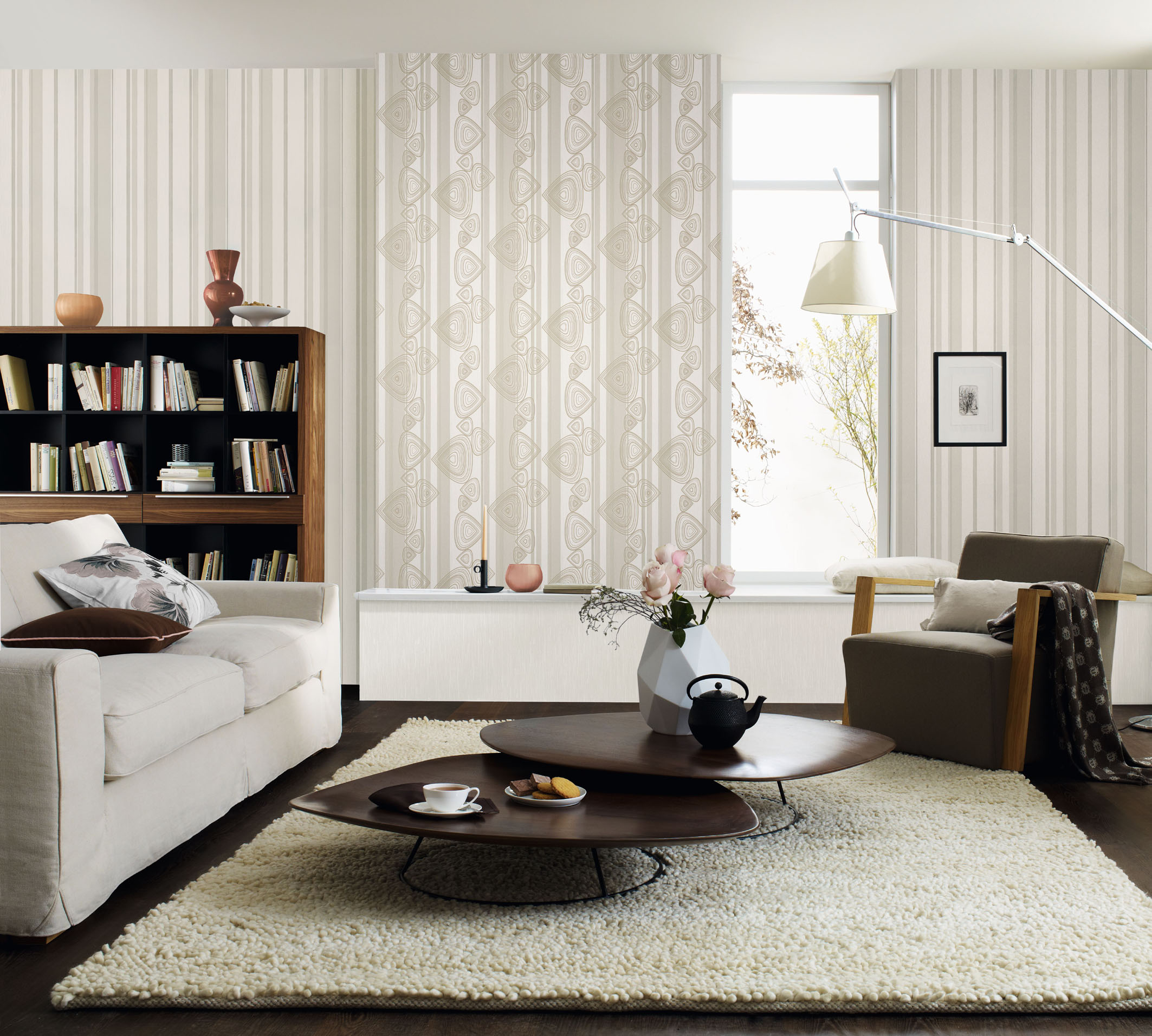 tapeten trends f r den herbst. Black Bedroom Furniture Sets. Home Design Ideas