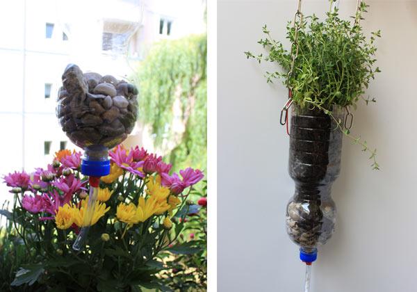 urban gardening tipp blumentopf kette aus pet flaschen. Black Bedroom Furniture Sets. Home Design Ideas