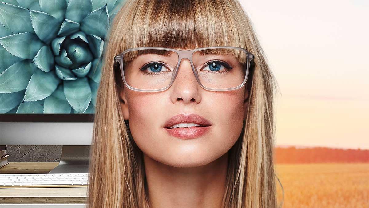 Brillen Gesicht Auf Die Länge Kommt Es An