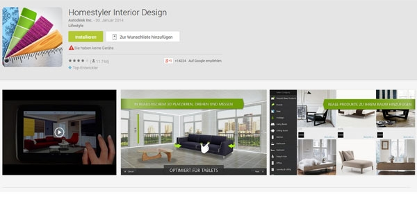 Autodesk homestyler ein kreativer helfer f r die for Raumgestaltung app
