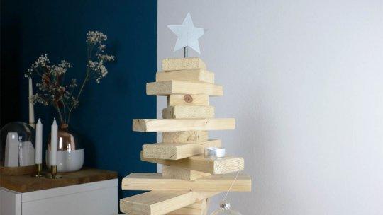 holz weihnachtsbaum selber machen. Black Bedroom Furniture Sets. Home Design Ideas